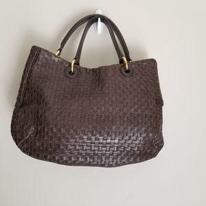 Loyd Maish Woven Leather  Satchel